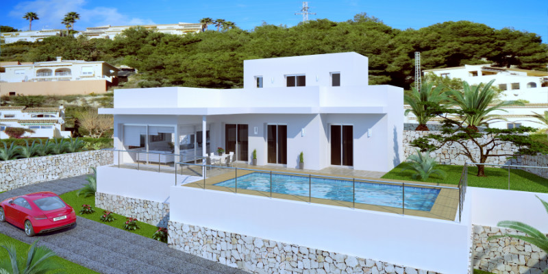 Modern villa for sale in Moraira, fantastic sea views